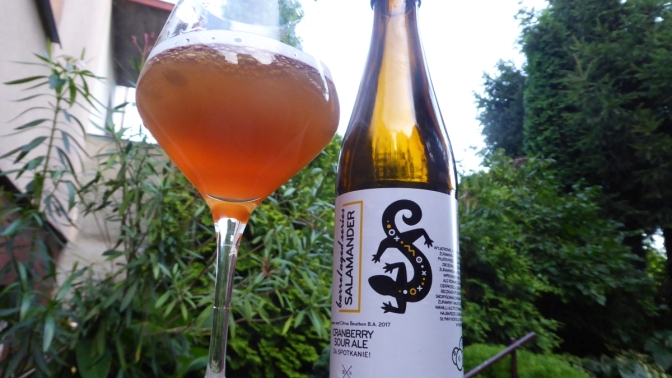 Salamander Cranberry Sour Ale [Barrel Aged] Browar Stu Mostów