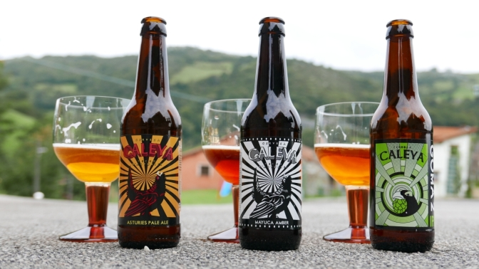 Cerveza Caleya [Asturiański Kraft]-Prosto z Hiszpanii.